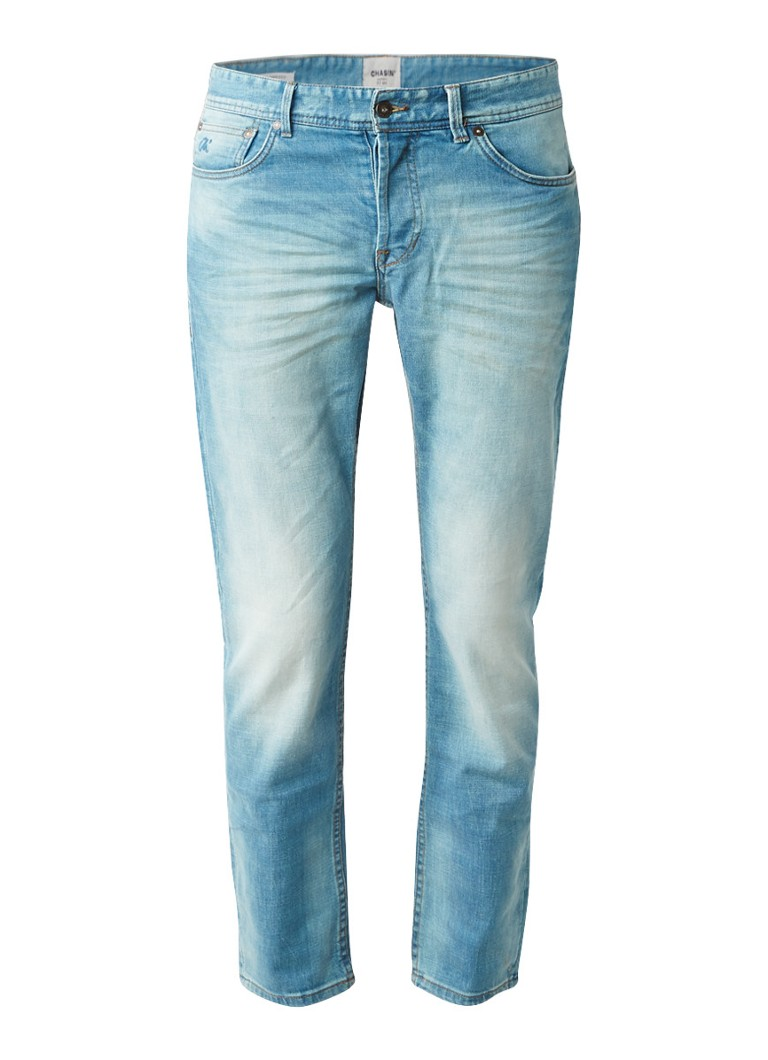 Chasin EGO Tapered Sky tapered fit jeans met knoopsluiting