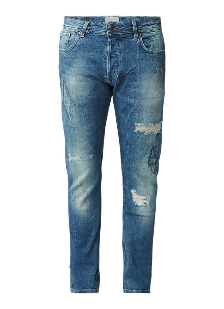 Chasin Slim fit jeans met destroyed look