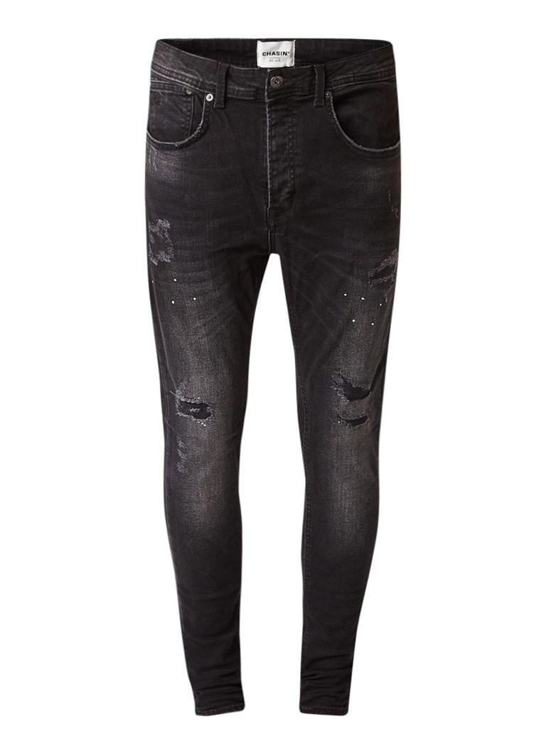 Chasin Iggy skinny leg jeans met destroyed look