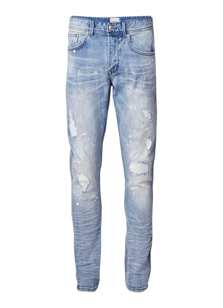 Chasin EGO West mid rise slim fit jeans met destroyed details