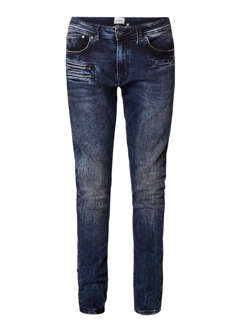 Chasin Guador Hillton slim fit jeans met ritszakken