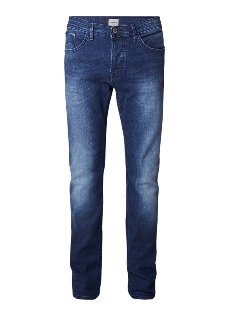 Chasin Crown Fellow high rise slim fit jeans met faded look