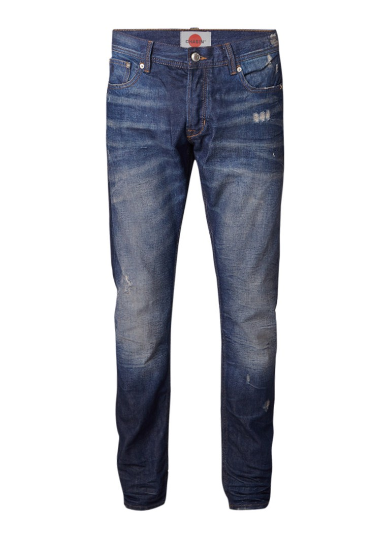 Chasin EGO Hasu slim fit jeans met faded look