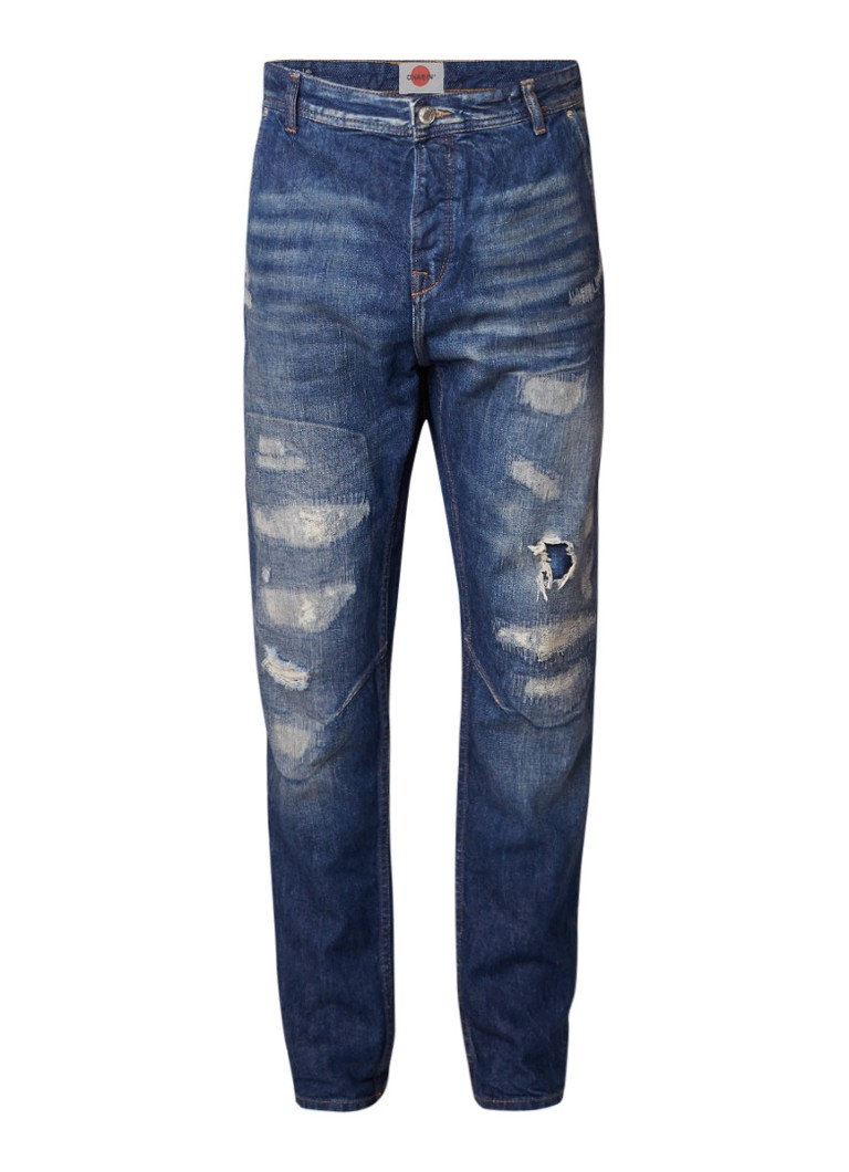 Chasin Tyler Buru slim fit jeans met destroyed look