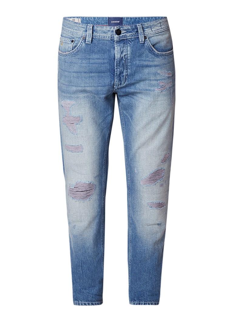 Chasin EGO Dragon slim fit jeans met destroyed details