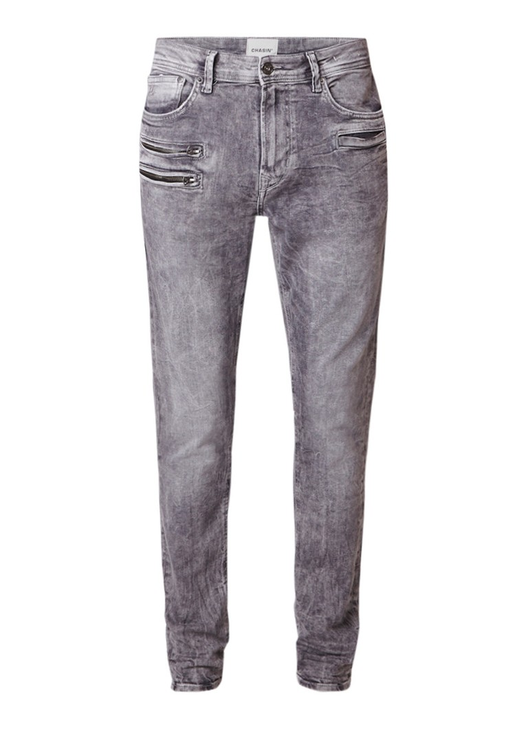 Chasin Guador Spinning slim fit faded jeans met ritszak