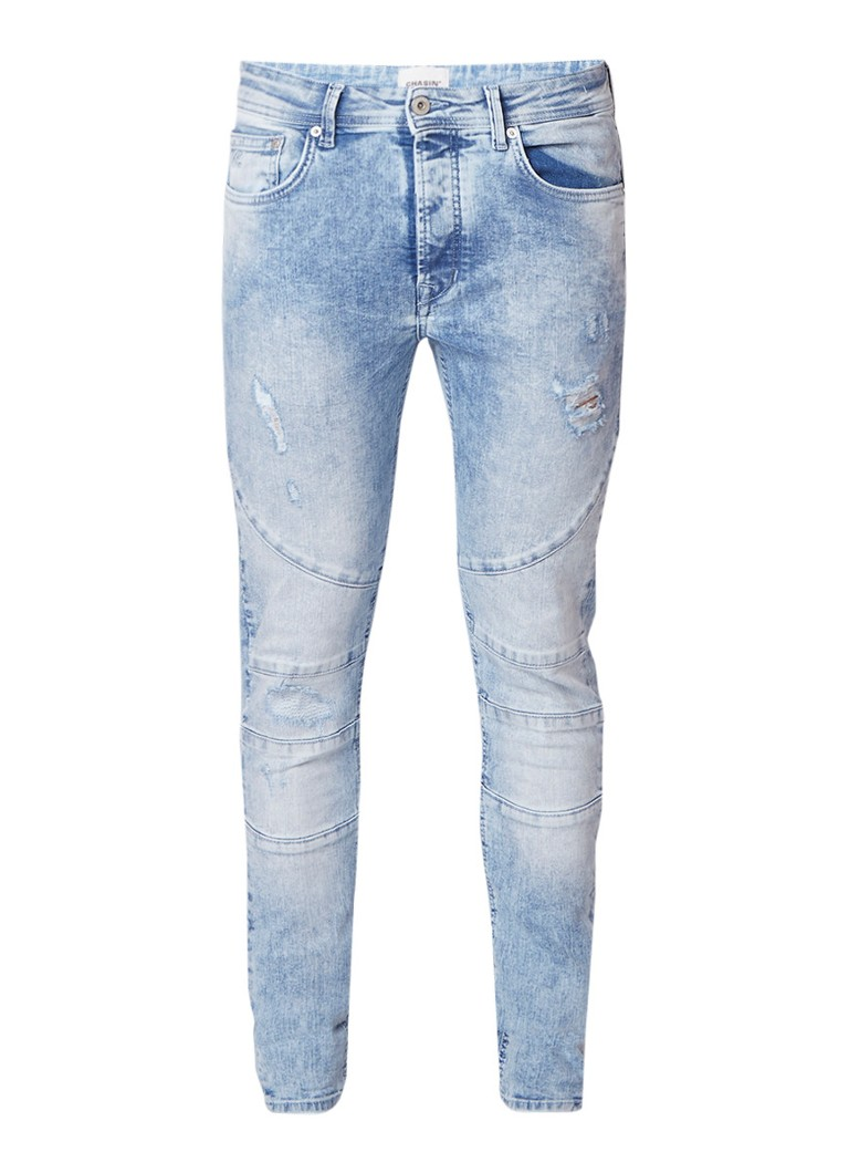 Chasin LAMAR>Pico slim fit jeans met stretch en destroyed details