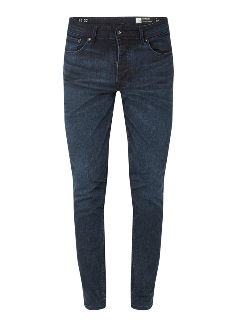 CHASIN' Ego Tress slim fit jeans met stretch en donkere wassing online kopen