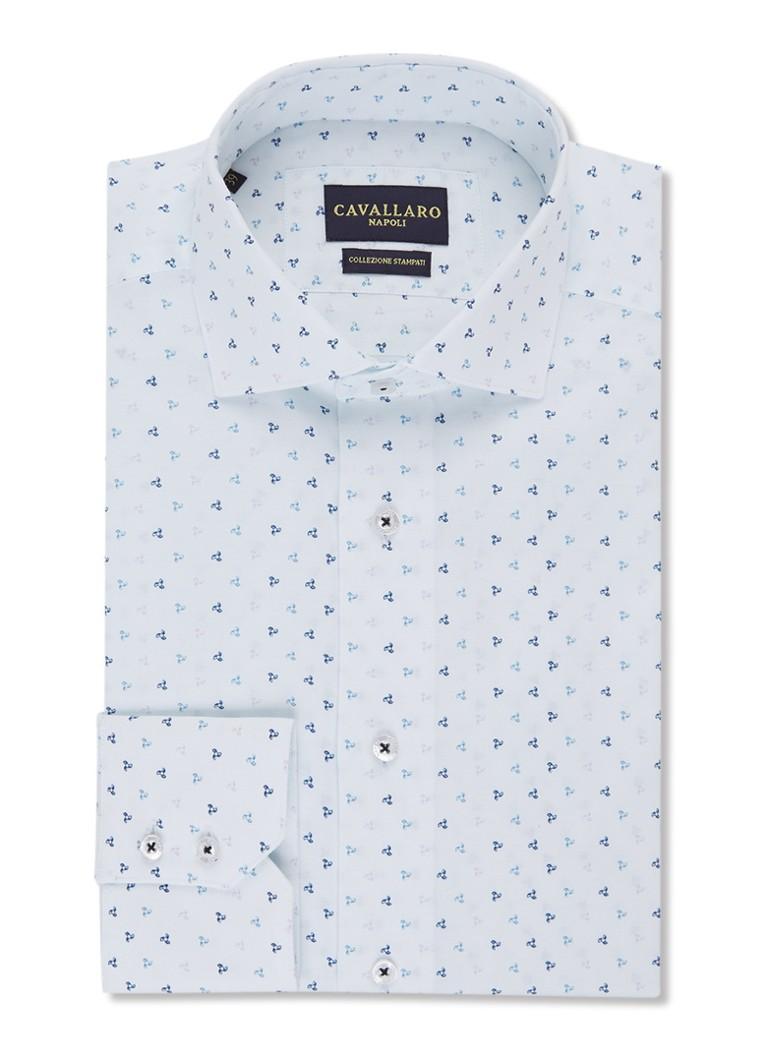 Image of Cavallaro Napoli Slim fit overhemd met micro dessin