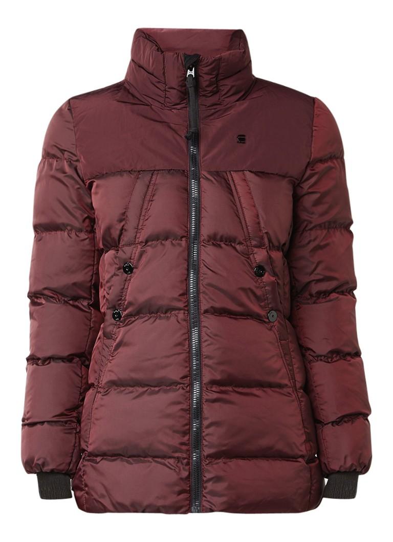 G-Star RAW gewatteerde winterjas rood