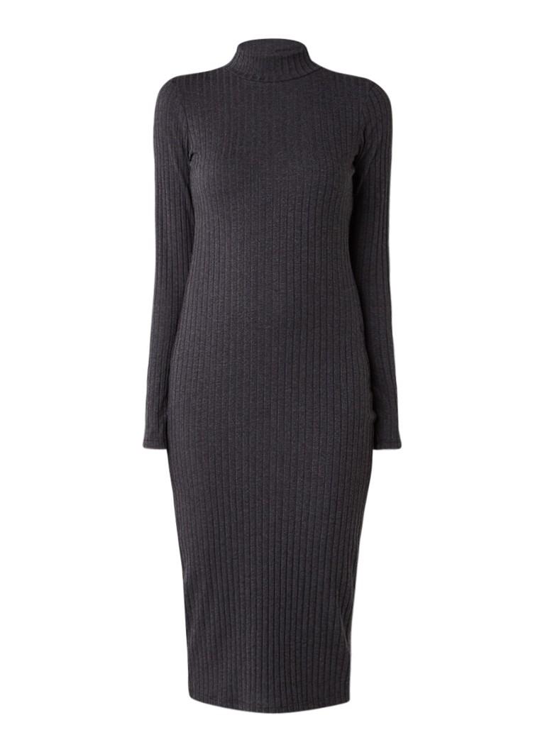G-Star RAW Venetio ribgebreide midi-jurk met col