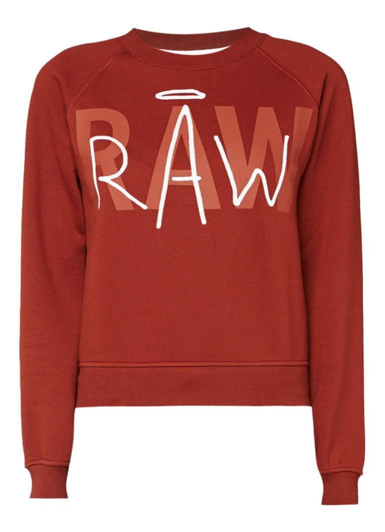 G-Star RAW Sweater met logoprint en borduring