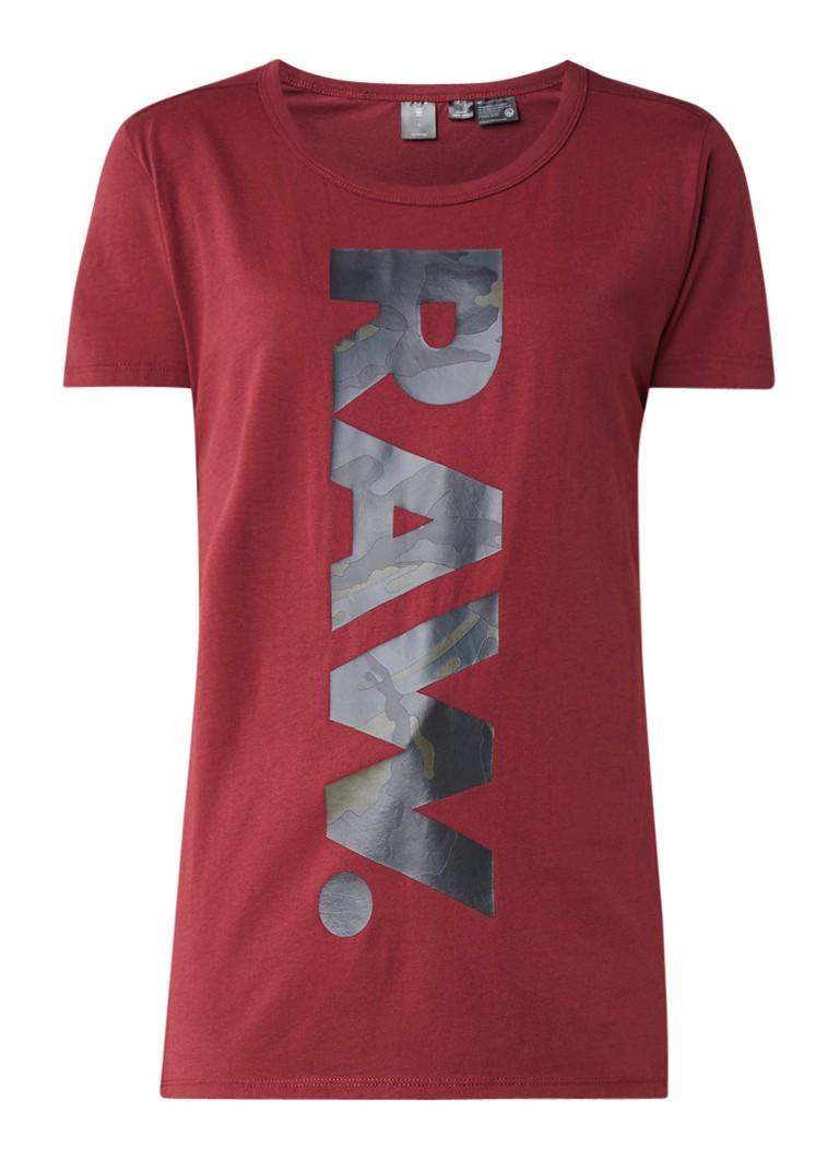 G-Star RAW Danarius T-shirt van katoen met logoprint