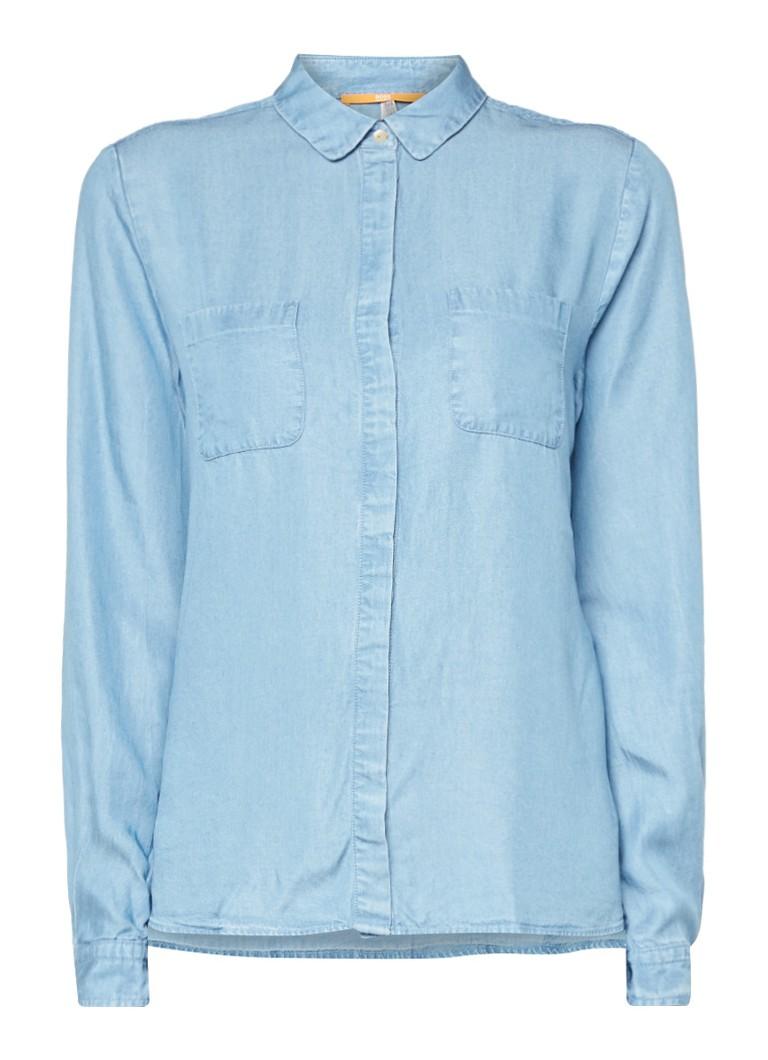 HUGO BOSS Ejey blouse met verborgen knoopsluiting