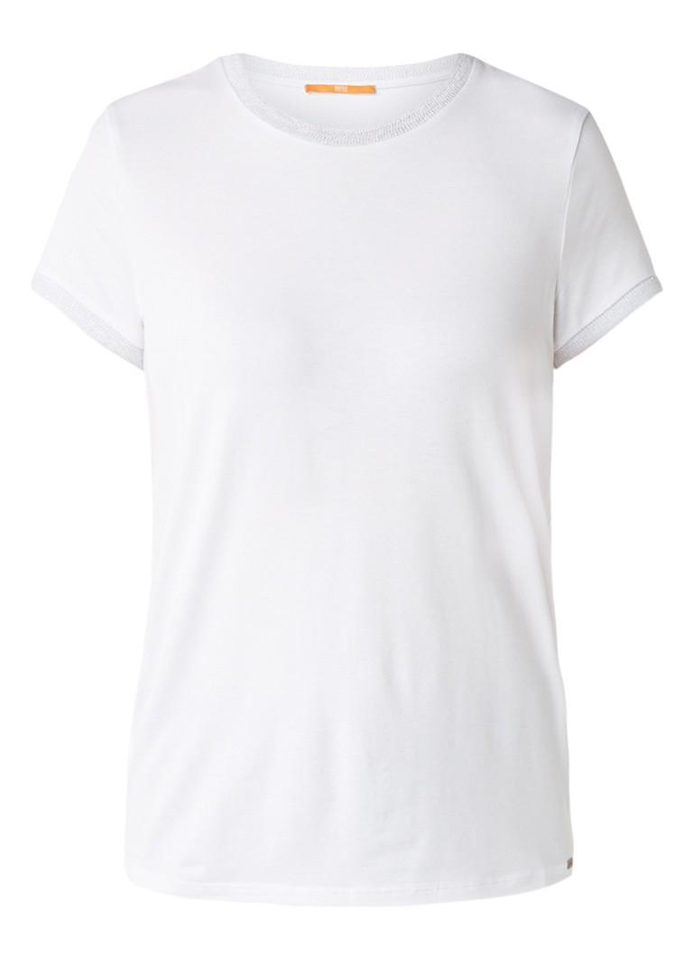 HUGO BOSS Tacrew T-shirt met lurex boorden