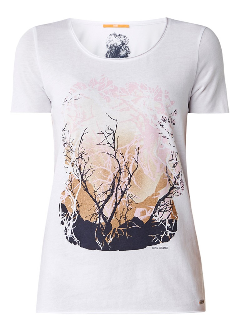 HUGO BOSS Tasensation T-shirt met frontprint