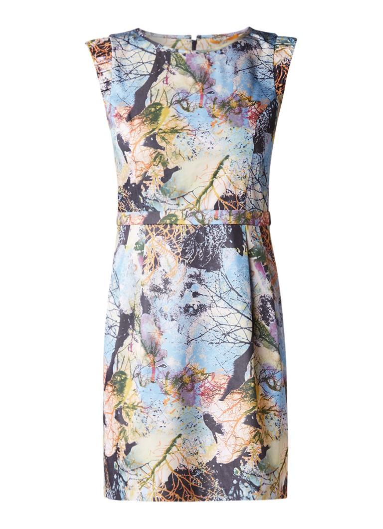 Hugo Boss Aday midi-jurk met dessin multicolor