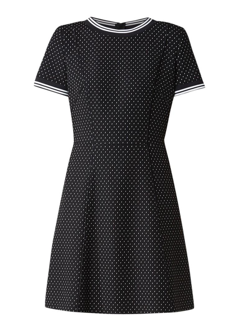 Hugo Boss Amodisa jurk van jersey met stipdessin zwart