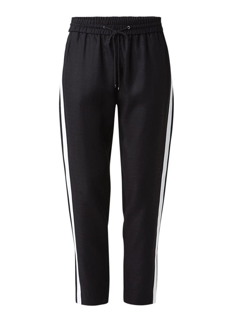 Broeken HUGO BOSS Soggie track pants met contrastbies Zwart