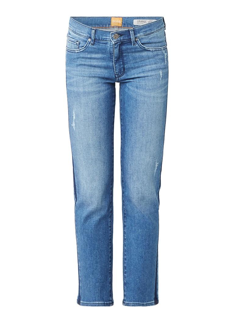 HUGO BOSS J30 Kingston mid rise straight fit 7 8 jeans