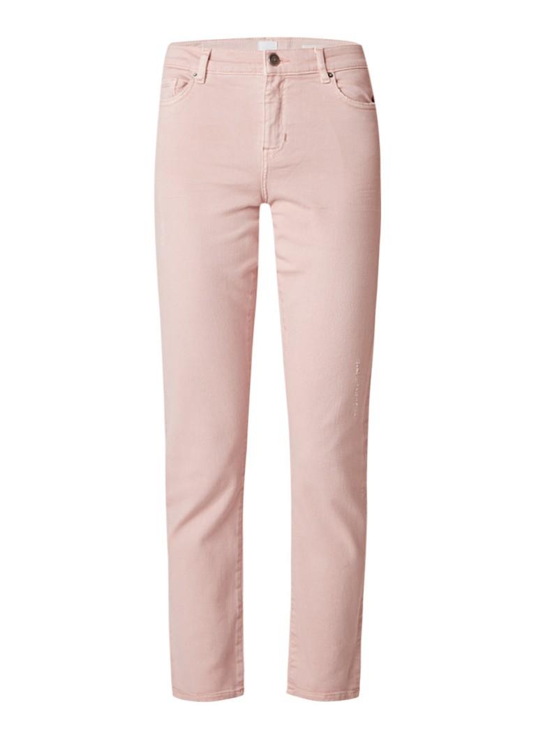 HUGO BOSS Roseville high rise slim fit jeans met destroyed details
