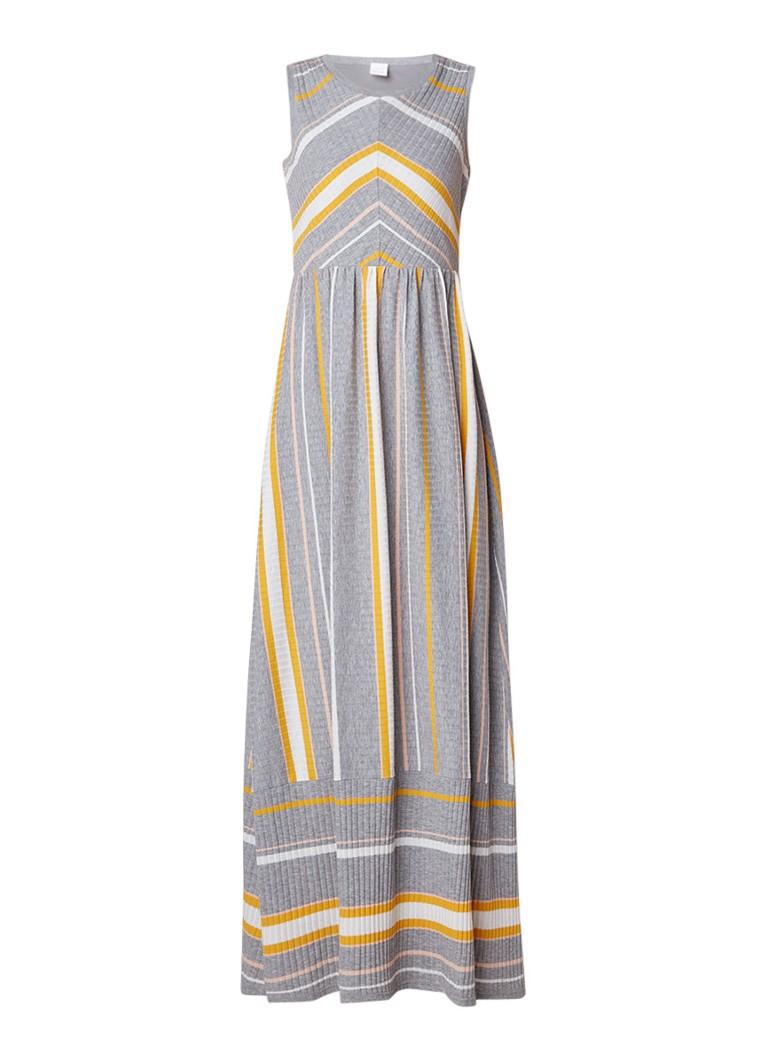 Hugo Boss Derlong fijngebreide jurk met streepdessin zilver