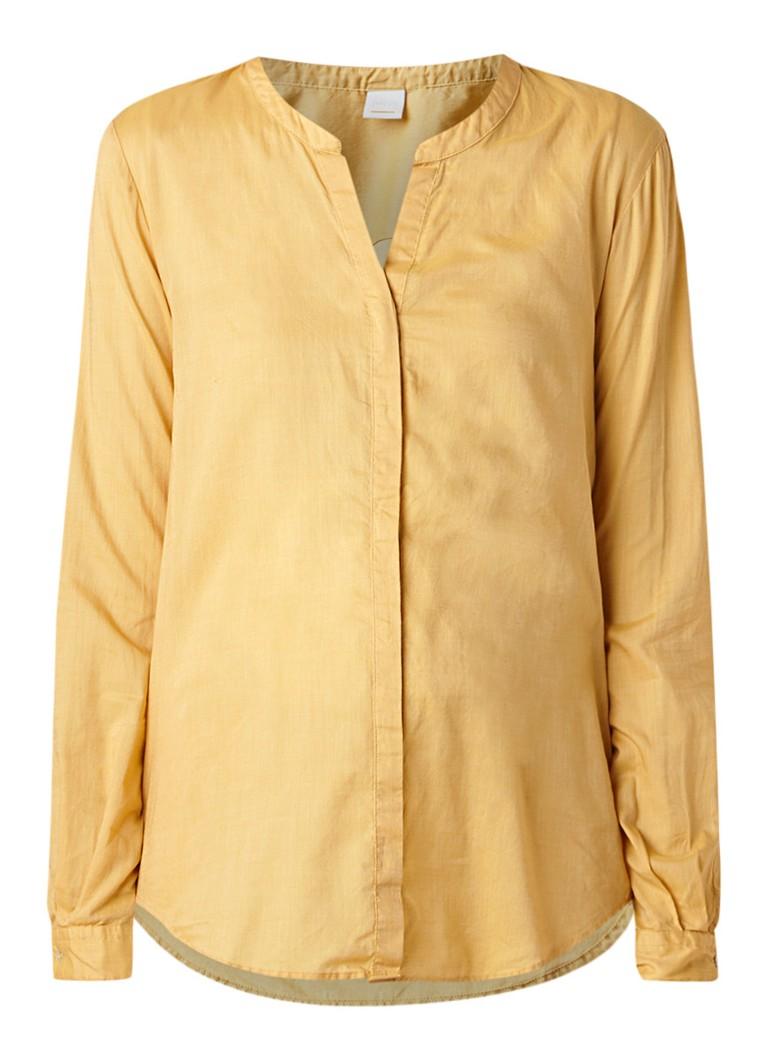 HUGO BOSS Efelize blouse in katoenblend met mouwomslag