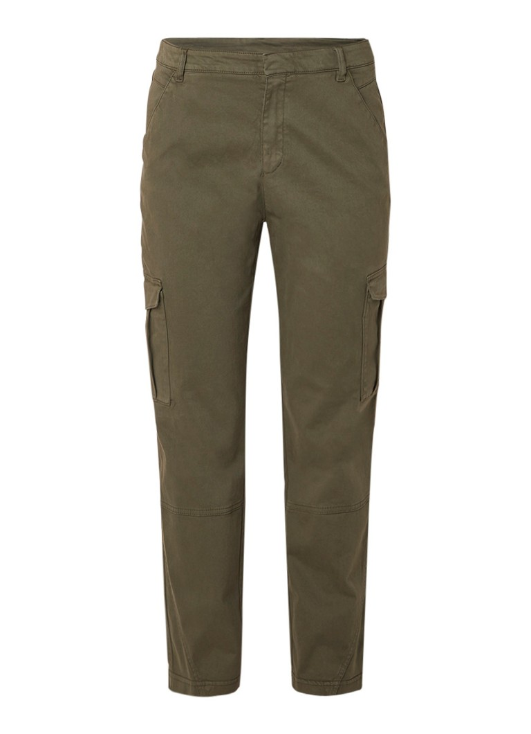 HUGO BOSS Satrimmy tapered fit cropped cargobroek