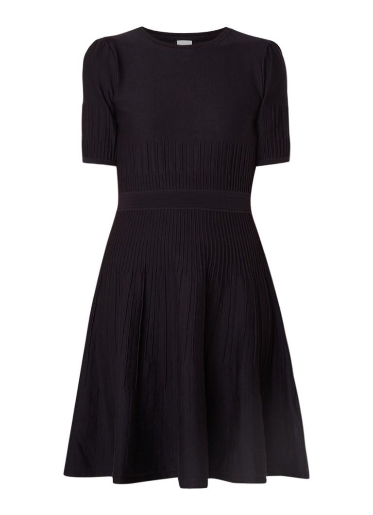 Hugo Boss Wildah fijngebreide jurk in zijdeblend donkerblauw
