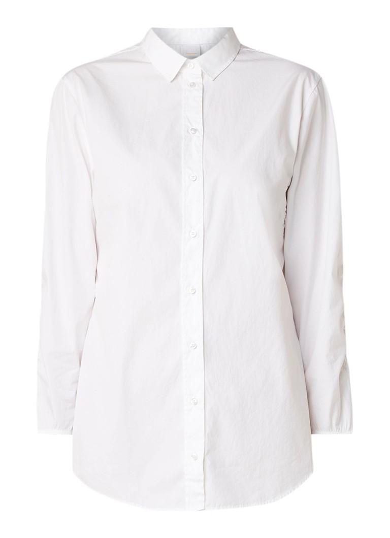 HUGO BOSS Cupid blouse van katoen met gesmockte details