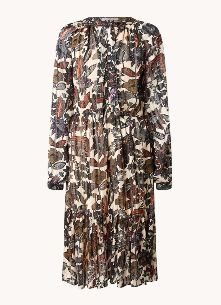 Scotch & Soda 161511 0217 midi dress in drapey jacquard stripe combo a online kopen