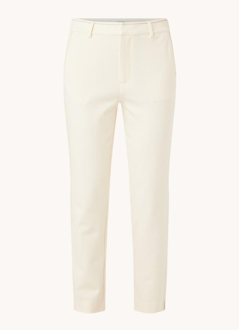 High waist slim fit cropped pantalon