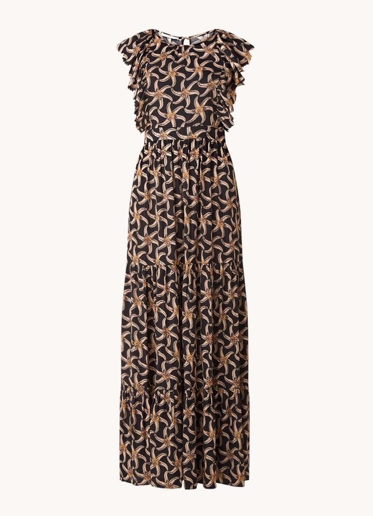 Scotch & Soda 161533 0222 drapey maxi length dress with scalloped edge details combo f online kopen