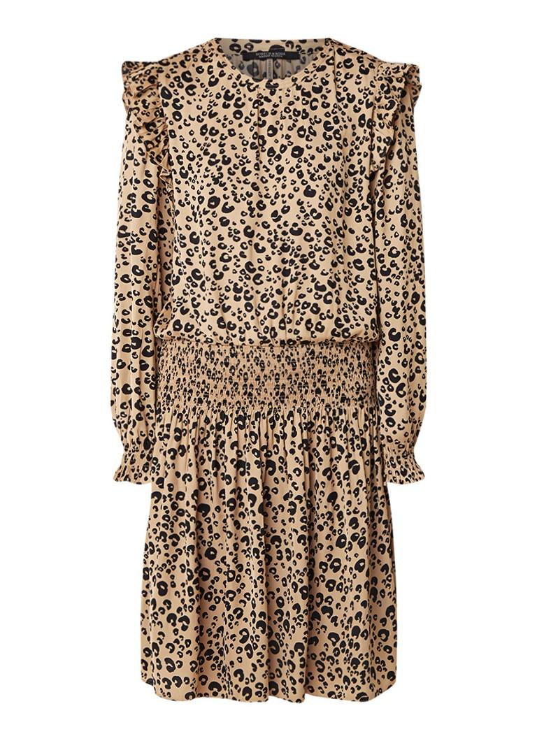 Scotch & Soda A-lijn jurk met luipaarddessin lichtbruin