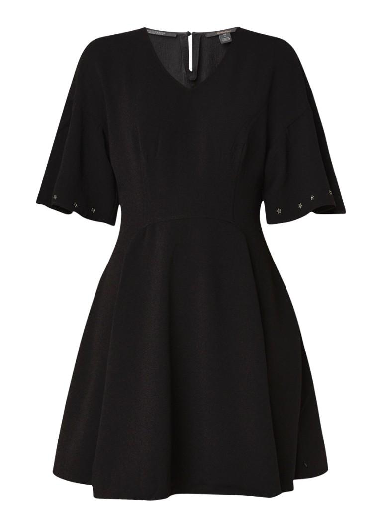 Scotch & Soda A-lijn jurk met eyelet details zwart