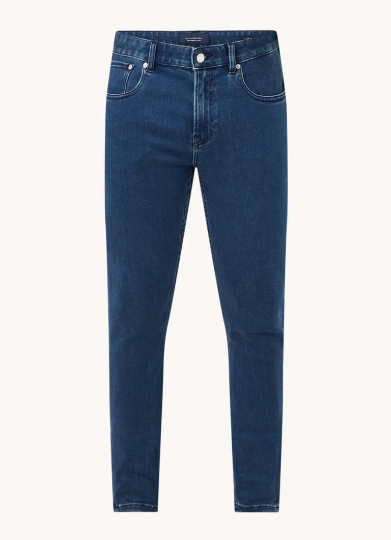 Scotch & Soda Skim skinny fit jeans met donkere wassing
