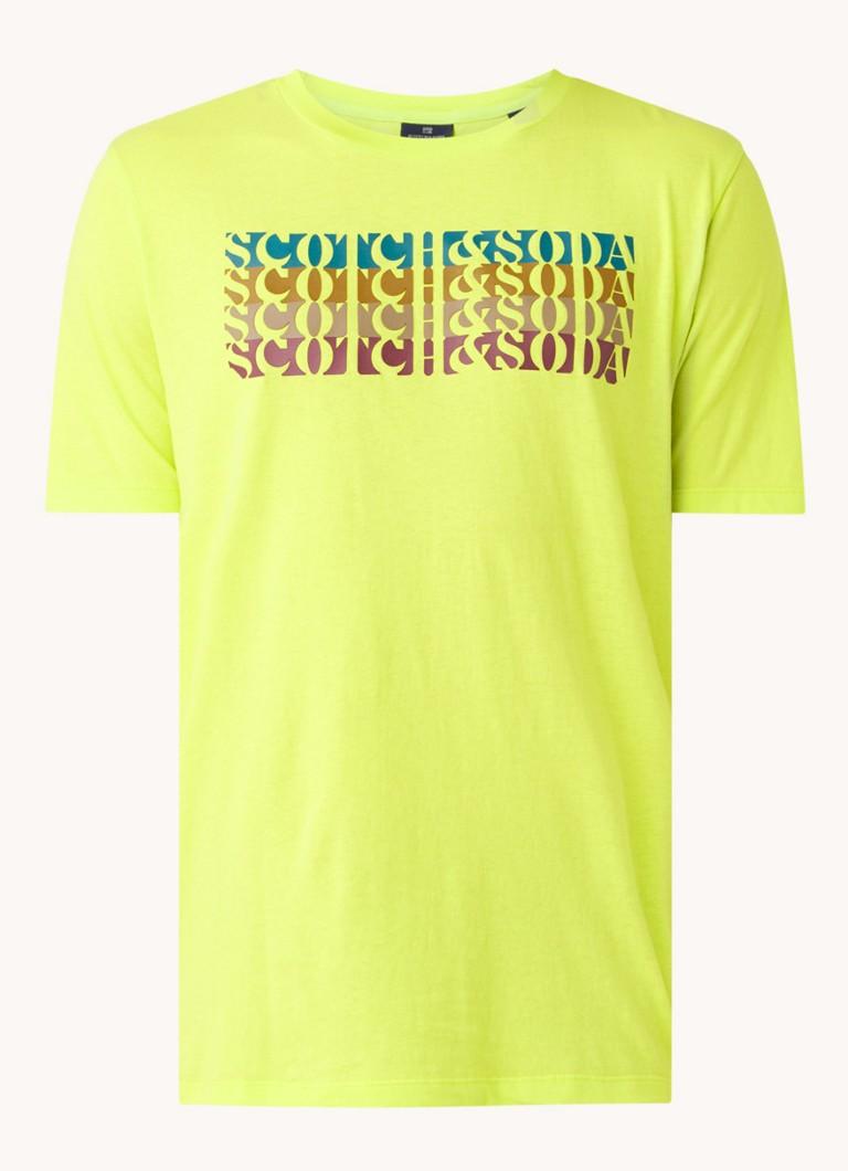 T shirt van katoen met logo