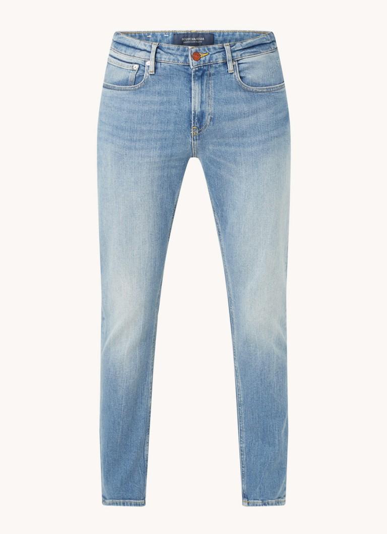 Scotch & Soda Skim slim fit jeans met medium wassing
