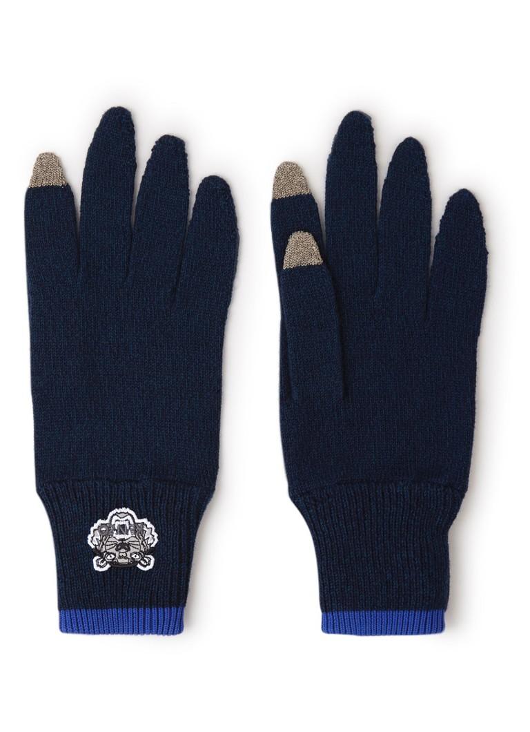 KENZO Tiger Crest handschoenen in wolblend