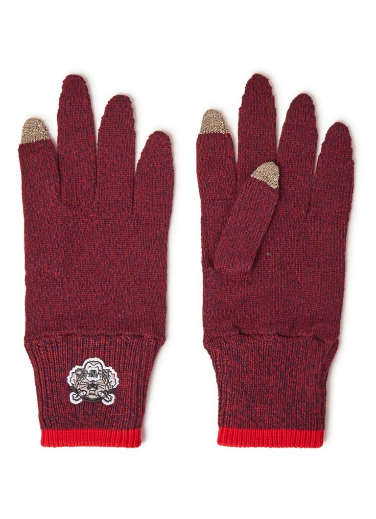 KENZO Fijngebreide handschoenen met merkborduring