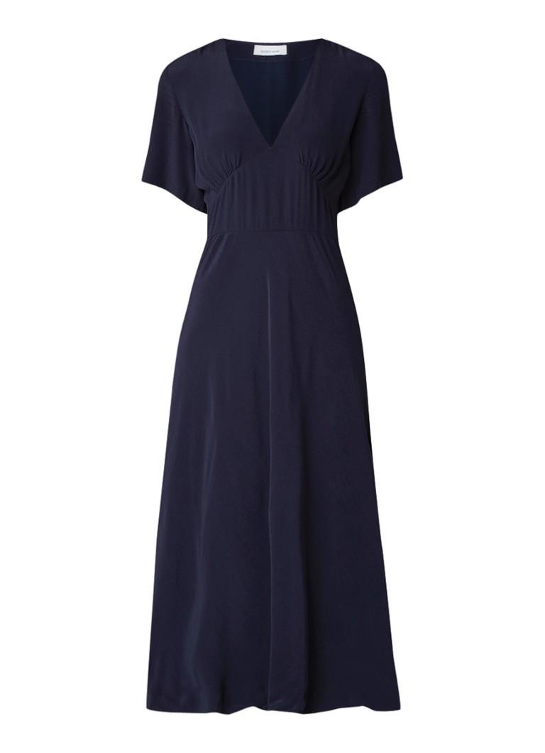 Samsøe & Samsøe Cindy maxi-jurk van chiffon blauw