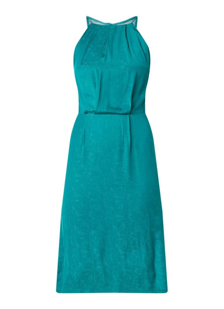 Samsøe & Samsøe Willow cami jurk met rugdecolleté en kant groen