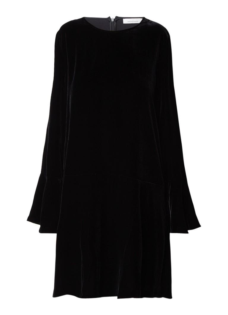 Samsøe & Samsøe Nikita A-lijn jurk van fluweel zwart
