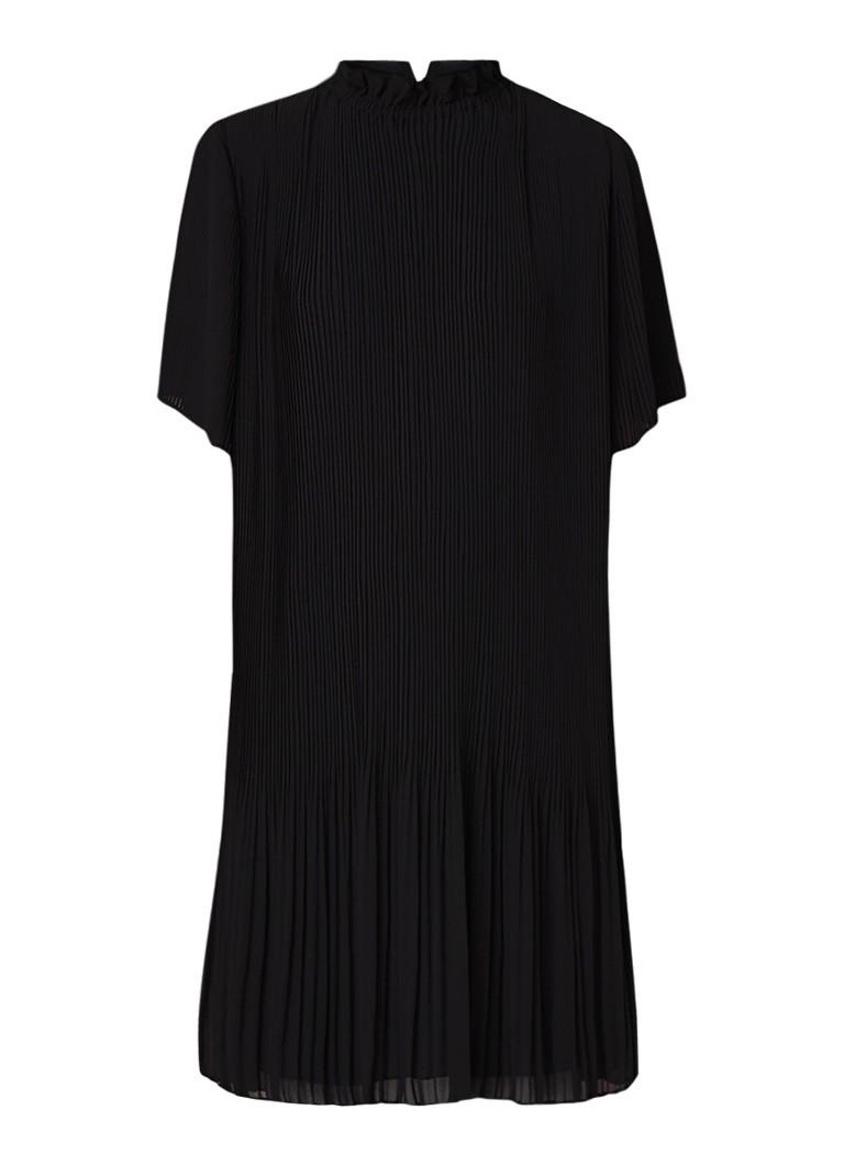 Samsøe & Samsøe Malie A-lijn jurk met plissé zwart