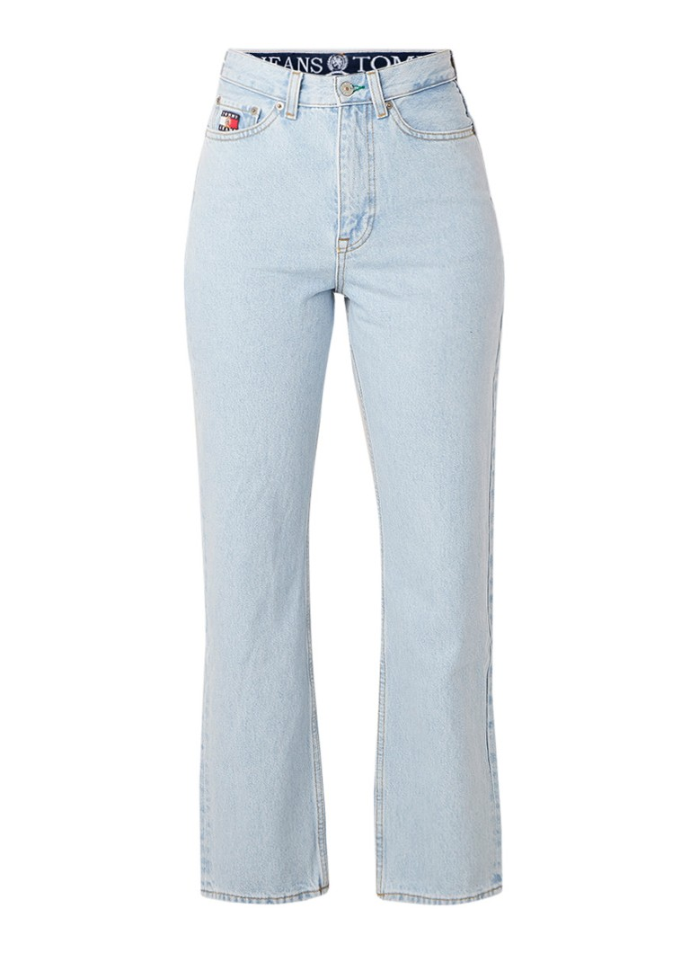Image of Tommy Hilfiger High rise mom jeans met washed look