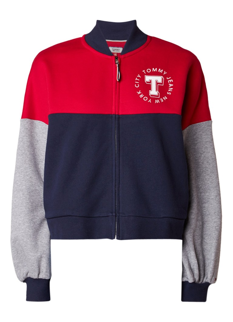 Tommy Hilfiger Baseball jack met colour blocking en logoprint