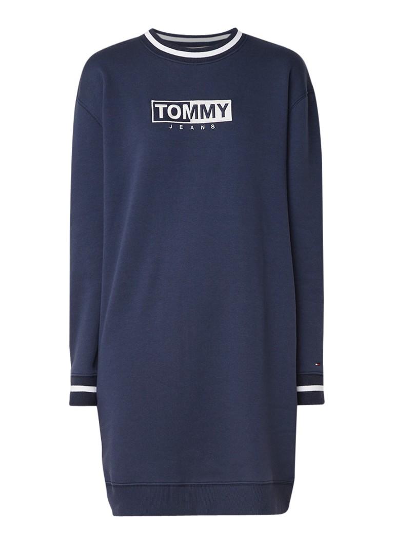 Tommy Hilfiger Sweaterjurk met logoborduring royalblauw