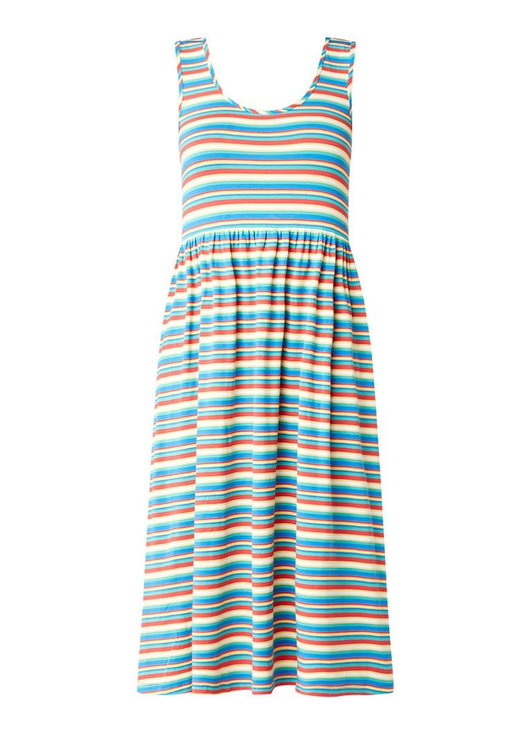 Tommy Hilfiger A-lijn jurk met ronde hals en streepdessin multicolor
