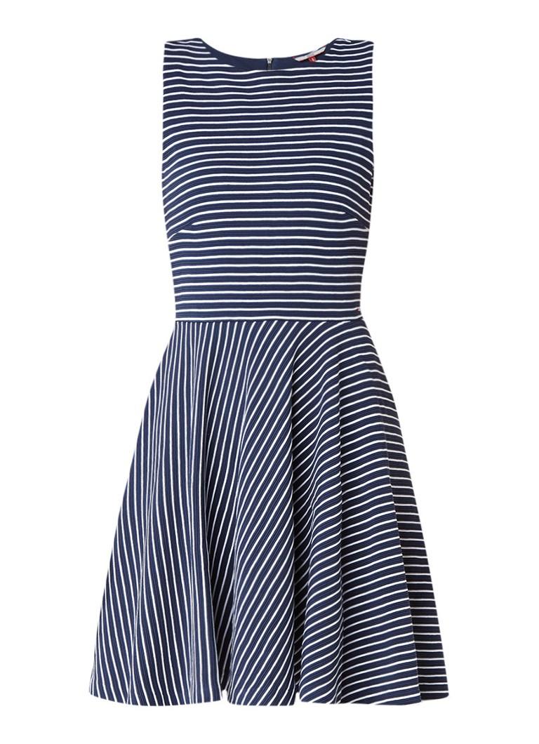 Tommy Hilfiger A-lijn jurk met streepdessin donkerblauw