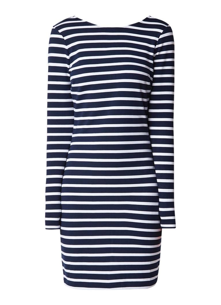 Tommy Hilfiger Jersey midi-jurk met streepdessin donkerblauw